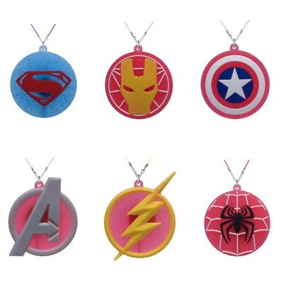 Avenger Logo Cartoon PVC Charm Pendant Toy Necklace Kids Accessory Birthday Gift