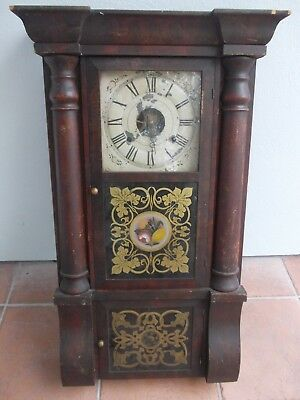 SETH THOMAS CONNECTICUT WALL SHELF new haven clock AMERICAN antique MAHOGANY
