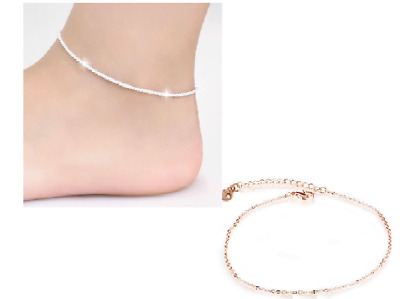 Fashion Ankle Bracelet Women Silver/Gold Colour Anklet Foot Jewellery Chain UK**