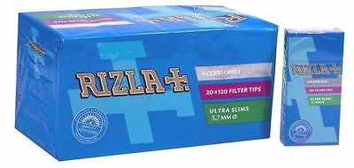 Full Box of 2400 Rizla ULTRA SLIM Cigarette Extra Slim Filter Tips Free P&P