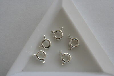 Silver Plate Spring Ring - 7mm - 10 pieces #6357