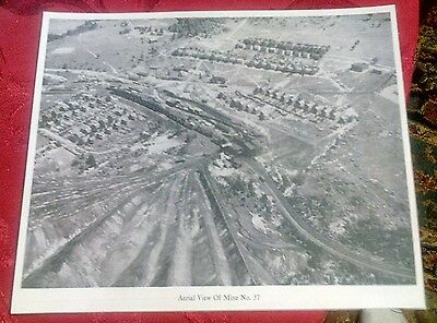 1947 Windber PA. Coal Mine # 37 Aerial View- Railroad, Houses, Mine, Slate Dumps