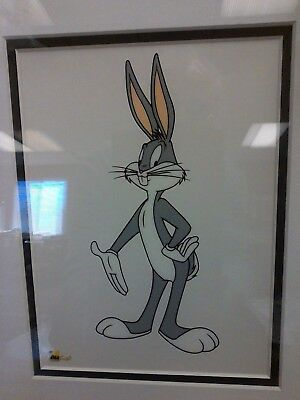 Animation Art - Cartoon Cel Framed - Bugs Bunny Ii  Free Shipping !!