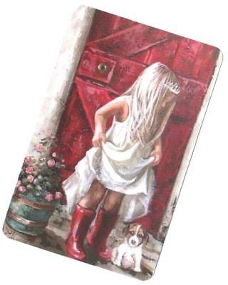 Swap Card -  Blank Back ~ Girl In Boots