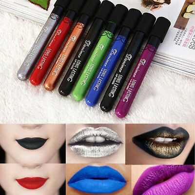 Gothic Matte Lip Gloss Makeup Long Lasting Lip Liquid Lipstick Waterproof Charm