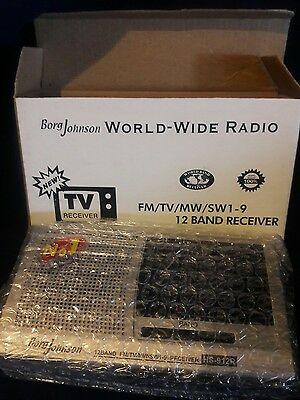 Borg Johnson HS-912R  World Wide Radio - 12 Band Receiver FM/TV/MW/SW 1-9  NIB!