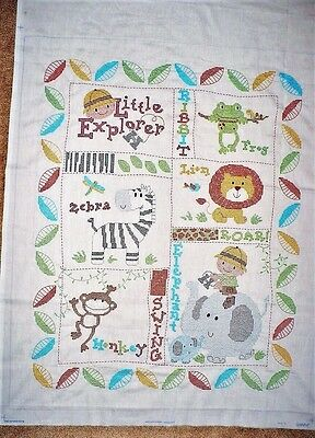 "Little Explorer Quilt top 36"" x 48""  Stitching Completed ~ Smoke & Pet free"