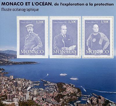 Monaco 2018 MNH Ocean Exploration & Protection 3v M/S Royalty Museums Stamps