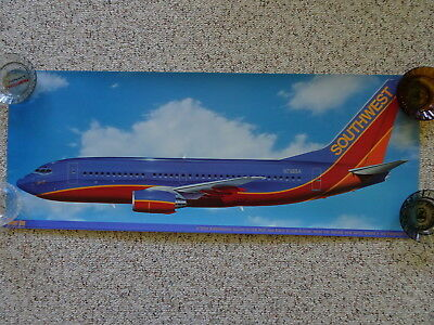 Southwest Airlines 30th Anniversary Sprint One 737 Air  Plane Poster