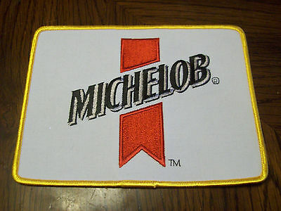 Large Michelob Beer Patch   (Put On )  Shirt Jacket