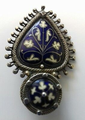 Rare Early Norwegian David Andersen Christiania Pin Brooch With Enamel 1885 1886