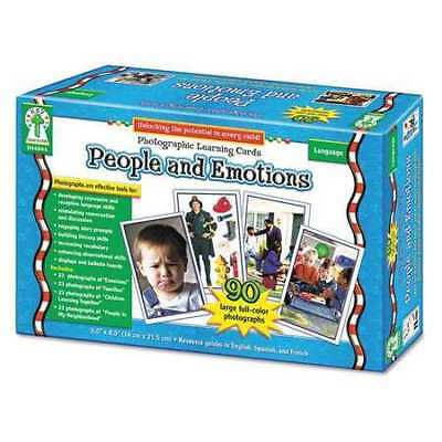 CARSON-DELLOSA PUBLISHING D44044 Photographic Cards,People/Emotions,K-12
