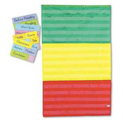 CARSON-DELLOSA PUBLISHING 5642 Pocket Chart,w/Cards,3-Sections
