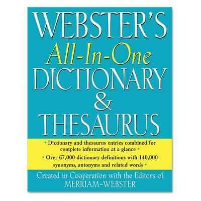 MERRIAM WEBSTER AVT-FSP0467 All In One Dictionary/Thesaurus