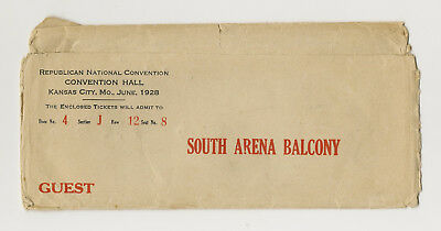 1928 Republican Convention - Kansas City - Envelope Only - Guest - Hoover!