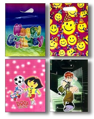 Boys Girls Childen Party Bags Plastic Goodie Bag Loot kids Birthday 20 30 50