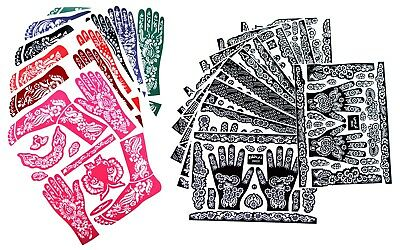 2 XXL Henna Tattoo Schablone Vorlage Tattoo Mehndi body paint Bollywood Paste