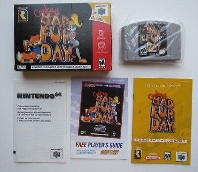 Authentic Conker's Bad Fur Day Nintendo 64 N64 Complete In Box CIB Video Game