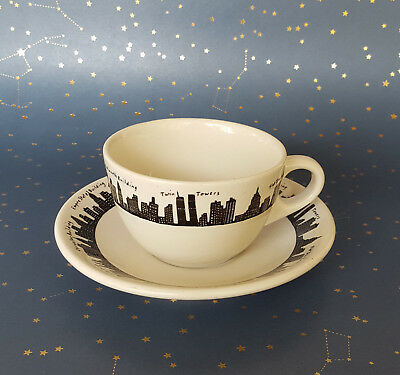 301811de386 Fishs Eddy New York Skyline Coffee Cup Tea Cup Twin Towers Homer Laughlin  Diner