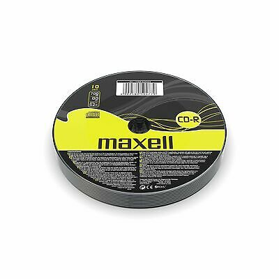 2 Maxell CD-R Data 700mb 80Min 52x Blank Recordable CDs In Polypropylene Sleeves