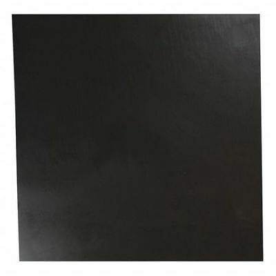 "E. JAMES 4060-3/8A 3/8"" Comm. Grade Buna-N Rubber Sheet, 12""x12"", Black, 60A"