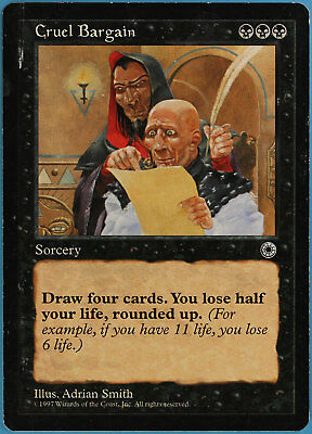 Cruel Edict Portal Second Age NM Black Common MAGIC GATHERING CARD ABUGames