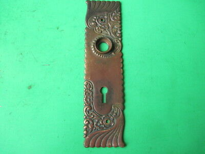Antique Fancy Ornate Victorian Eastlake Style Brass Bronze Door Knob Face Plate