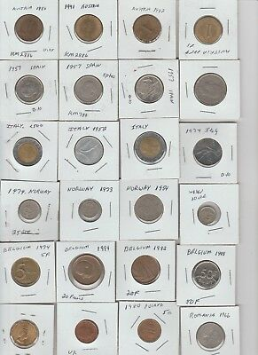 Lot of 24 coins from European Nations