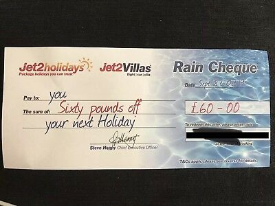 Jet2 Rain Cheque and code off your next Jet2holidays September 18 To October 19