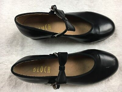 Bloch Black Tap Shoes Mary Jane - Girl's Size 5.5 M - Techno Tap #3H