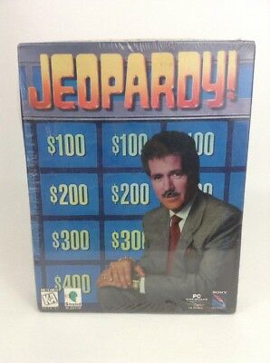 Jeopardy Computer Game PC Sony software Windows Vintage 1995 Sealed New