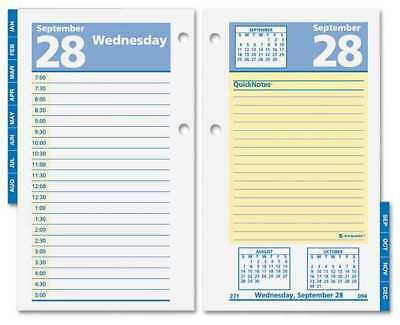 3-1/2x6 Daily Desk Calendar Refill, White AT-A-GLANCE AAGE51750
