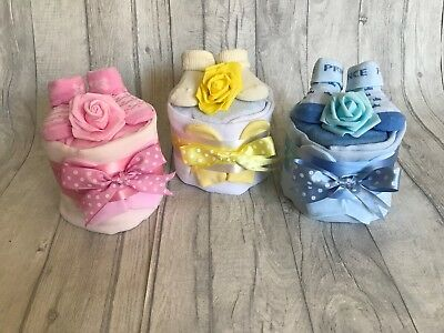 ec2eae907 BABY BOY GIRL Single 1 One Tier Nappy Cake Baby Shower Gift ...