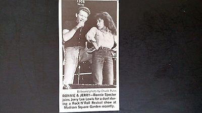 "JERRY LEE LEWIS-RONNIE SPECTOR""  1978  Original Promo Pic/Text  Ad"