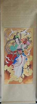 Chinese Hanging Scroll - Lady In Traditional Dress 献寿–錢忠信