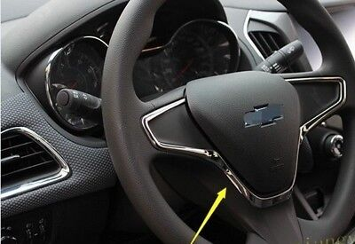For Chevrolet Cruze 1PCS Interior steering wheel Molding Cover Trim(2017-18)N