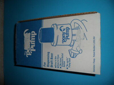 """The Pony Pump"" -Keg Tap For Dispensing Draft Beer with Box & Manual NEW (T-8)"