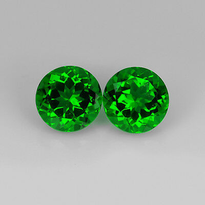 4.82 Ct Amazing AA Emerald Green Natural Moldavite Pair Round Cut Loose Gemstone