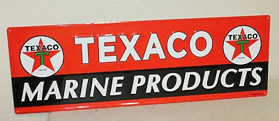 "Large Vintage Style 42"" X 14"" Texaco Marine Oil Gas Station Signs Man Cave USA"