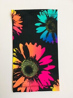 Lycra PICC Line or Freestyle Libre Cover - Neon Flowers