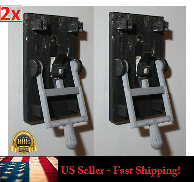 2x Steampunk Frankenstein Light Switch Cover Plate Flip Handle Toggle - BLACK