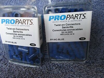 twist on wire connectors blue 100 pcs 22-14 AWG