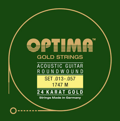 Optima 24K Gold Acoustic Guitar Strings gauges 13-57