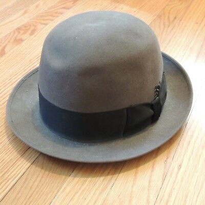 Brooks Brothers Vtg Lock Co Hatters Bowler Hat Gray Mens Size Small