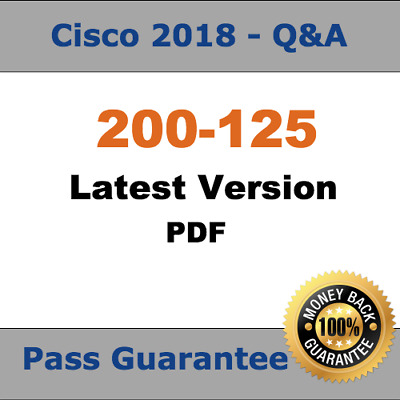 Cisco CCNA Exam Dump for 200-125 Exam Q&A PDF (2018 Verified)