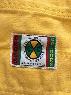 Vintage Cross Colours Shorts Yellow Size 30
