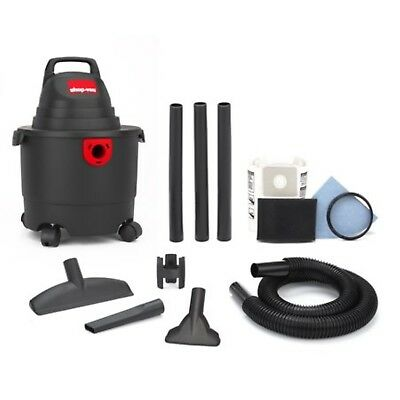 Wet Dry Shop Vac 3 Gallon Vacuum Cleaner 3.0 Peak HP Home Cleaning House Clean