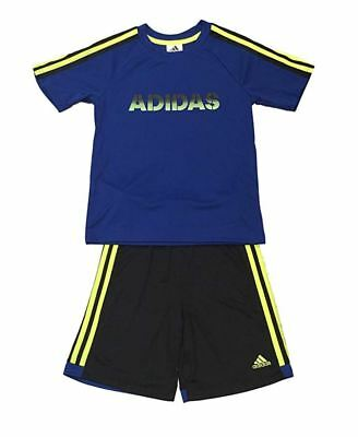 Adidas 2 Piece Active Set for Boys - Short Sleeve T-Shirt, Short 2T