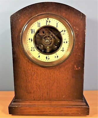 Antique French Striking Mantel Clock, By R & Co. Paris, Good working order