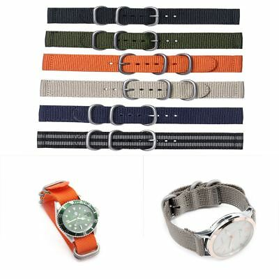 18mm/20mm/22mm/24mm Ballistic Durable Military Nylon Wrist Watch Band Strap